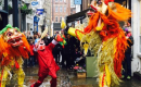 Lion Dance on Flask Walk