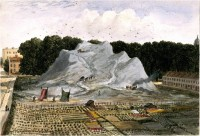 E. H. Dixon's 1837 painting of the Great Dust-heap at King's Cross, Battle Bridge came to wider public attention through the 2011 Wellcome Library exhibition Dirt: the filthy reality of everyday life.