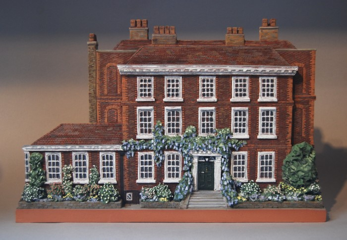 Burgh House in May (Architectural portrait in terracotta) by Liz Mathews)