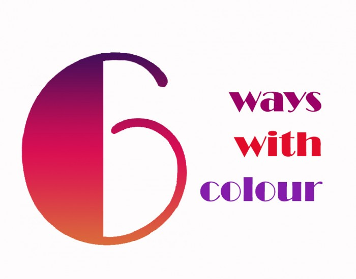 Six ways with colour logo